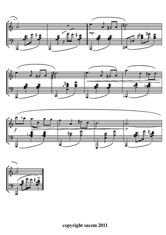 thème de musique de film pour piano facile