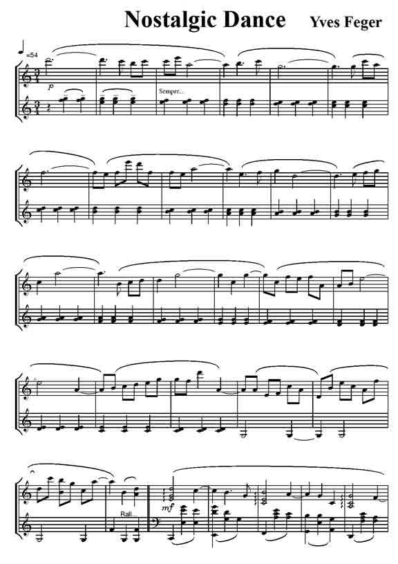 partition musique de film piano