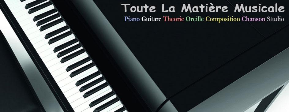 Cours de piano,guitare,théorie,solfège, harmonie et composition