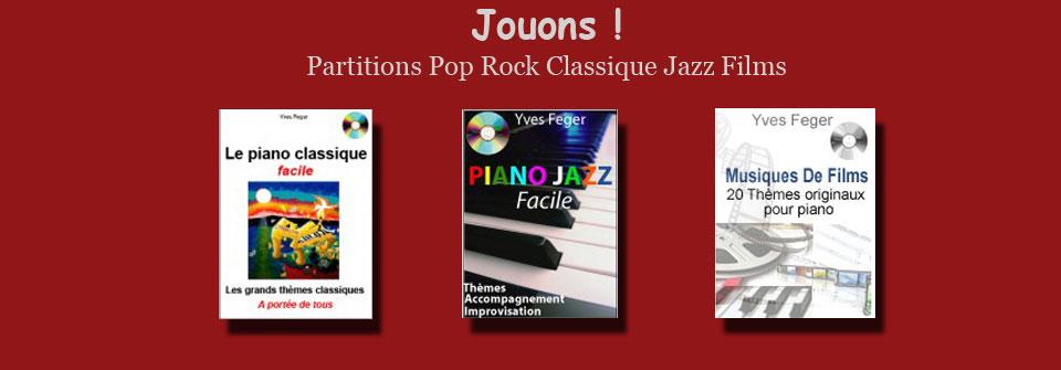 Partitions classiques,rock,jazz et musique de film