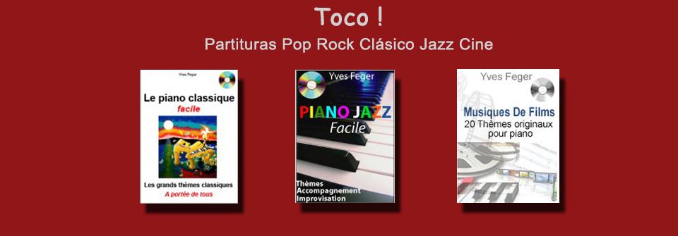 Partituras clàsicas,rock,jazz y música de cine